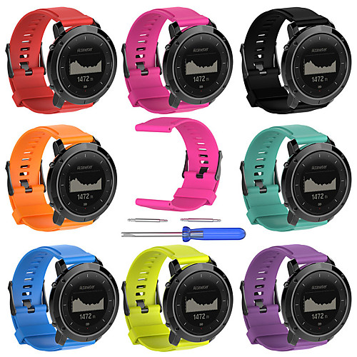 For Suunto Traverse Alpha GPS Outdoor Watch Replacement Silicone Watchband