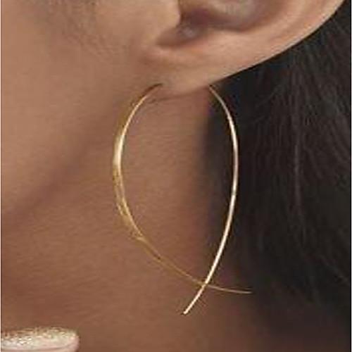 Women's Stud Earrings Hoop Earrings Gold Plated Earrings Ladies Personalized Simple Style Jewelry Gold / Silver For Street Club
