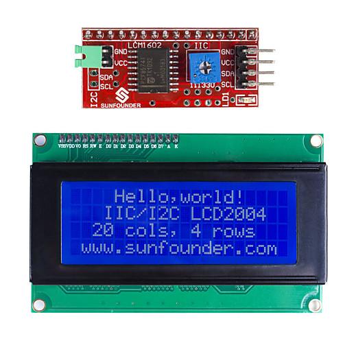 IIC / I2C серийный ЖК 2004 дисплейный модуль для (для Arduino) (работает с официальным (для Arduino) плат) ds3231 at24c32 iic модуль precision clock модуль ds3231sn для arduino модуля памяти