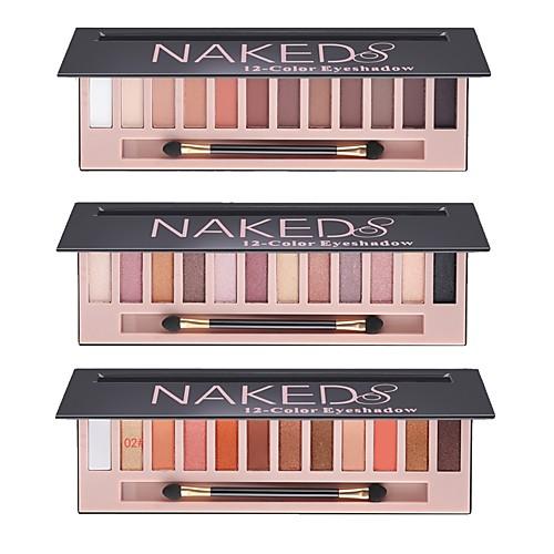 12 цвета Комбинация Тени порошок Повседневный макияж / Макияж на Хэллоуин / Макияж для вечеринки