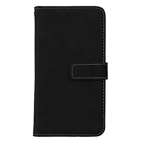 Кейс для Назначение LG K8 LG LG K4 LG K10 LG K7 LG G5 LG G4 K3 (2017) K10 (2017) Бумажник для карт со стендом Флип Чехол Сплошной цвет lg fr296wd4