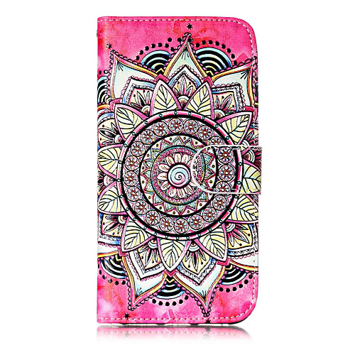 Case For Apple iPhone X / iPhone 8 / iPhone 8 Plus Wallet / Card Holder / with Stand Full Body Cases Mandala Hard PU Leather for iPhone X / iPhone 8 Plus / iPhone 8