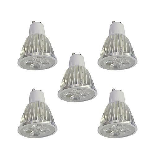 5 шт. 5W 400lm GU10 Точечное LED освещение 5 Светодиодные бусины Высокомощный LED Диммируемая Белый 110-120V