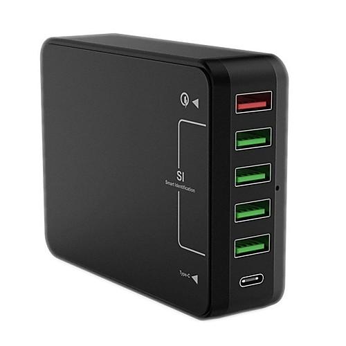 Зарядное устройство USB QC61 6 Настольная зарядная станция С быстрой зарядкой 3.0 Стандарт США Евро стандарт Стандарт Великобритании стандарт сша