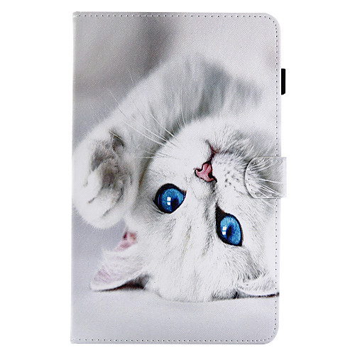 Case For Samsung Galaxy / Tab A 8.0 / Tab A 9.7 Card Holder / with Stand / Flip Full Body Cases Cat Hard PU Leather for Tab E 9.6 / Tab E 8.0 / Tab A 10.1 (2016)