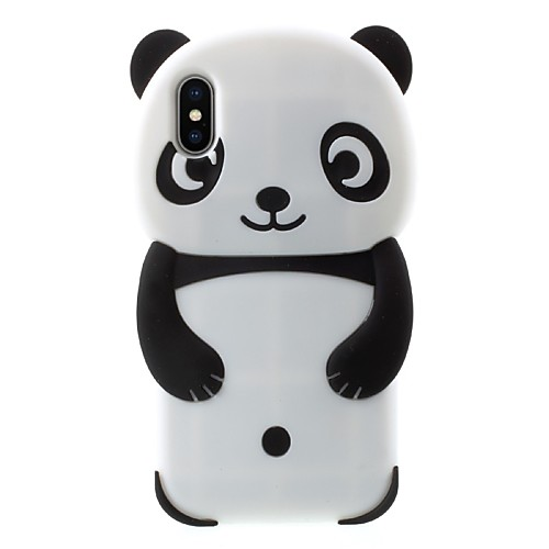 Case For Apple iPhone X / iPhone 8 Plus Pattern Back Cover Panda Soft Silicone for iPhone X / iPhone 8 Plus / iPhone 7 Plus