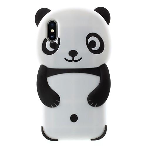 Кейс для Назначение Apple iPhone X iPhone 8 Plus С узором Кейс на заднюю панель Панда Мягкий Силикон для iPhone X iPhone 8 Pluss iPhone 7 детская футболка классическая унисекс printio король панда