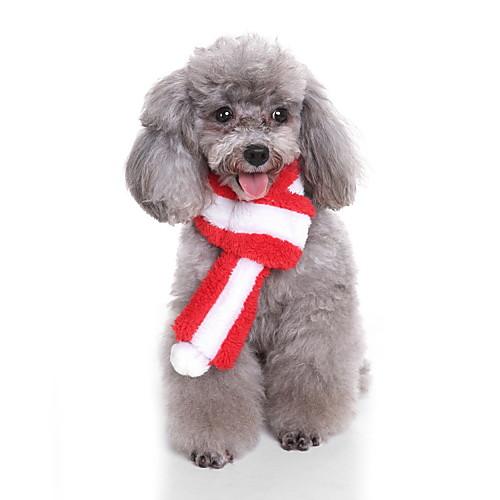 Собака Рождество Шарф для собаки Одежда для собак Мультипликация Красный Зеленый Розовый Плюшевая ткань Костюм Назначение Весна & осень Зима