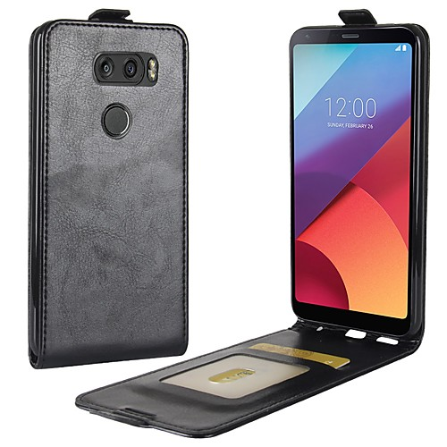 Кейс для Назначение LG LG K10 V30 K10 (2017) Бумажник для карт Флип Чехол Сплошной цвет Твердый Кожа PU для LG V30 LG Q6 LG K10 (2017) чехол флип кейс lg для lg v30 h930 voia черный