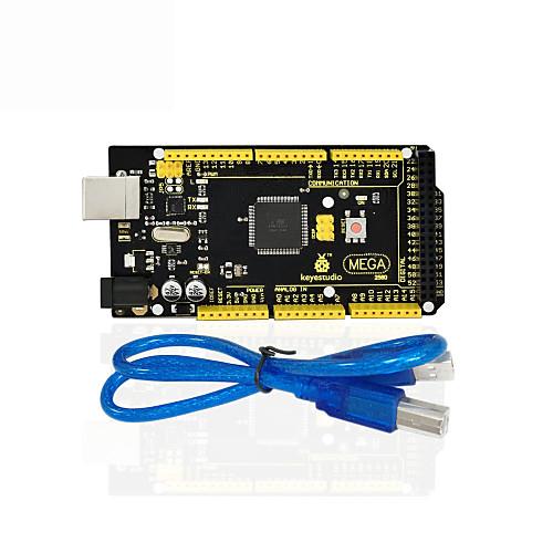 1pcs keyestudio mega 2560 r3 кабель usb 1pcs для arduino mega 2560 r3 / avr mega 2560 r3 rev3 atmega2560 16au совет кабель usb совместимый для arduino