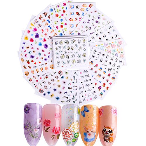 50 pcs Мода Наклейки / Набор / 3D-стикеры для ногтей Повседневные наклейки для ногтей 5 3d xf1241