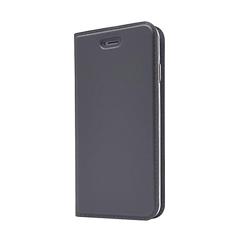 Кейс для Назначение Apple iPhone X iPhone 7 Plus Бумажник для карт со стендом Флип Чехол Сплошной цвет Твердый Кожа PU для iPhone X твердый защитный чехол для iphone 6 6s 6plus 7 7plus iphone x