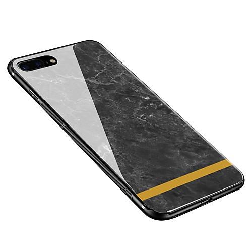 Кейс для Назначение Apple iPhone X iPhone 8 Plus С узором Кейс на заднюю панель Мрамор Мягкий Закаленное стекло для iPhone X iPhone 8 защитное закаленное стекло esr для iphone 8 plus 7 plus 6 plus 6s plus