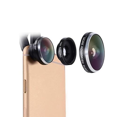 Cell Phone Lens Mactrem 235 Degree FishEye 19x Super Macro Universal Camera Phone Lens
