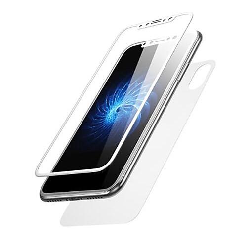 Защитная плёнка для экрана для Apple iPhone X Закаленное стекло 2 штs Защитная пленка для экрана и задней панели HD / Уровень защиты 9H / Ультратонкий фото