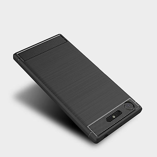 Кейс для Назначение Sony Xperia XZ1 Xperia XA1 Ultra Матовое Кейс на заднюю панель Сплошной цвет Мягкий ТПУ для Xperia XZ1 Compact Sony мобильный телефон sony xperia xa1 ultra dual sim черный