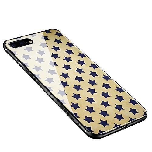 Кейс для Назначение Apple iPhone X iPhone 8 Plus С узором Кейс на заднюю панель Плитка Мягкий Закаленное стекло для iPhone X iPhone 8 защитное закаленное стекло esr для iphone 8 plus 7 plus 6 plus 6s plus