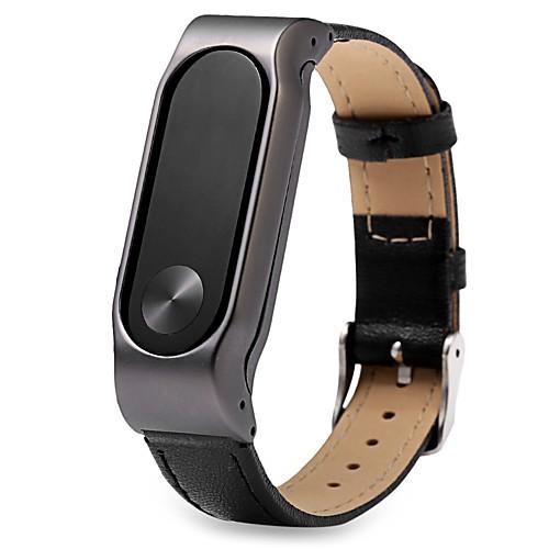 Ремешок для часов для Mi Band 2 Xiaomi Ремешки для часов Натуральная кожа Повязка на запястье