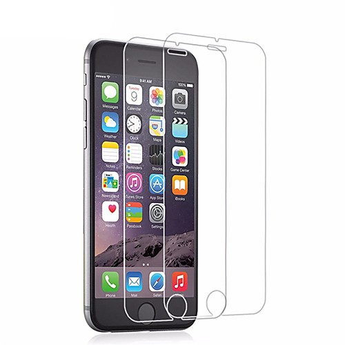 Screen Protector for Apple iPhone 6s / iPhone 6 Tempered Glass 2 pcs Screen Protector / Front Screen Protector High Definition (HD) / 9H Hardness / 2.5D Curved edge
