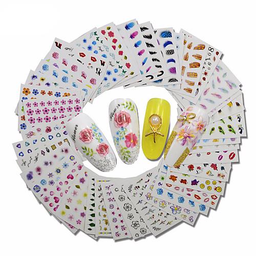 30 pcs Мода Наклейки / Набор / 3D-стикеры для ногтей Повседневные наклейки для ногтей 5 3d xf1241
