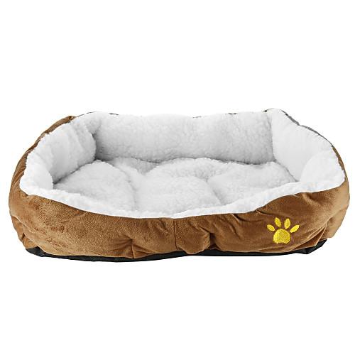 Кошка Собака Кровати Животные Коврики и подушки Однотонный Мягкий На каждый день Кофейный Розовый Синий Для домашних животных