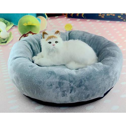 Кошка Собака Кровати Животные Валики и подушки Однотонный Мягкий Влажная чистка Серый Для домашних животных фото