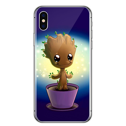 Case For Apple iPhone XR XS XS Max Transparent / Pattern Back Cover Cartoon / Tree Soft TPU for iPhone X 8 8 Plus 7 7plus 6s 6s Plus SE 5 5S