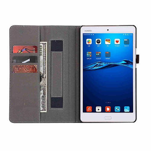 Фото Кейс для Назначение Huawei MediaPad M3 Lite 8(CPN-W09, CPN-AL00 Чехол Однотонный Твердый Кожа PU для Huawei MediaPad M3 Lite 8(CPN-W09, case for huawei mediapad m3 lite 8 0 cpn w09 cpn al00 8 inch tablet luxury folio stand flip pu leather cover with function