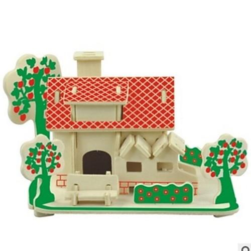 3D пазлы Деревянные пазлы Наборы для моделирования Домики Мода Лошадь Для детской Новый дизайн Горячая распродажа 1 pcs Классика Современный современный Мода Детские Игрушки Подарок