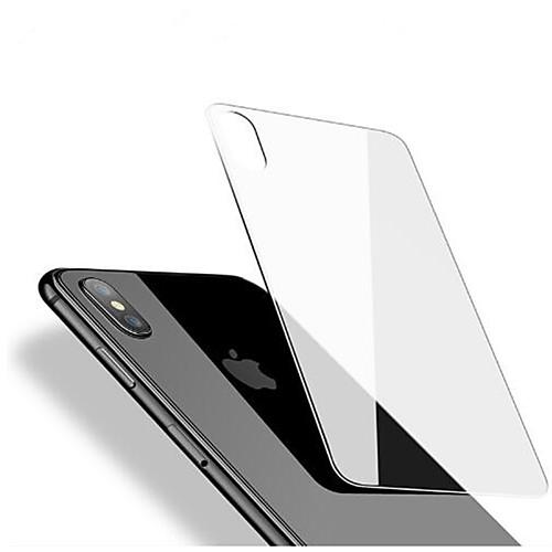 Защитная плёнка для экрана для Apple iPhone X Закаленное стекло 1 ед. Защитная пленка для задней панели HD / Уровень защиты 9H / 2.5D закругленные углы