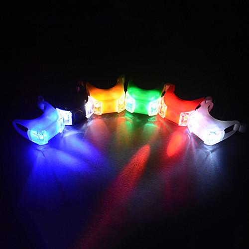 Передняя фара для велосипеда / Задняя подсветка на велосипед / Силиконовый байк Светодиодная лампа Велоспорт Батарейки таблеточного типа Батарея Велосипедный спорт / Многофункциональный