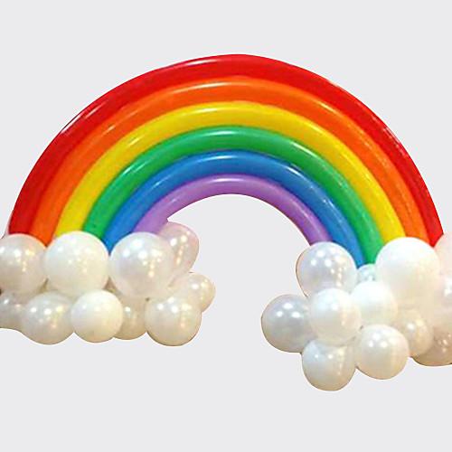Rainbow Balloon Set Birthday Party Wedding Deco (20 Long Balloon 16 Round Balloon)