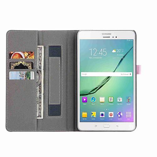 Кейс для Назначение Tab S 8.4 SSamsung Galaxy Вкладка 8,0 Вкладка S2 8.0 Tab E 8.0 Tab A 8.0 Бумажник для карт Кошелек со стендом Авто
