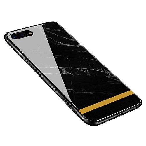 Case For Apple iPhone X / iPhone 8 Plus Pattern Back Cover Marble Soft Tempered Glass for iPhone X / iPhone 8 Plus / iPhone 8