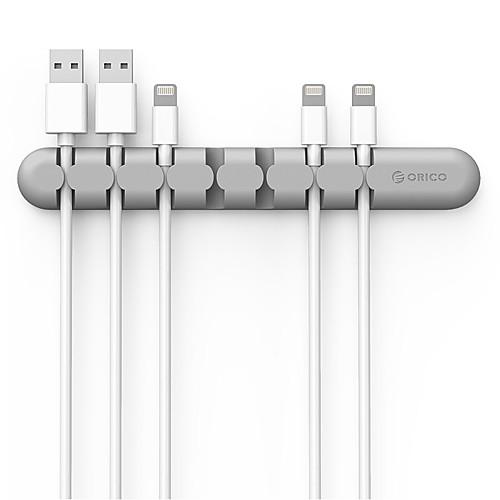 orico cbs7 настольный кабель органайзер силиконовый провод держатель клип