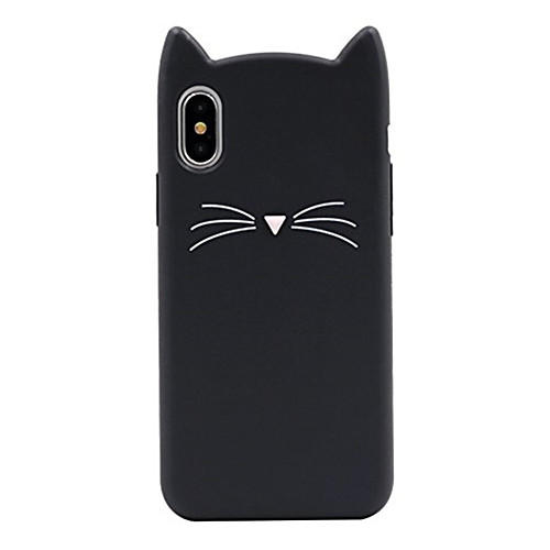 Case For Apple iPhone X / iPhone 8 Pattern Back Cover Cat / Cartoon Soft Silicone for iPhone X / iPhone 8 Plus / iPhone 8