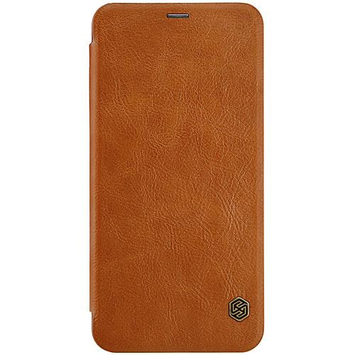 Кейс для Назначение OnePlus OnePlus 5T 5 Бумажник для карт Флип Авто Режим сна / Пробуждение Чехол Сплошной цвет Твердый Кожа PU для One держатели в авто lola держатель для телефона в авто
