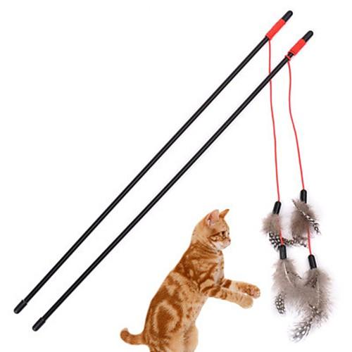 Игрушки на палочке для кошек Перья для кошек Дразнилки для кошек Декомпрессионные игрушки пластик Назначение Кошка Котёнок формочки для леденцов на палочке екатеринбург