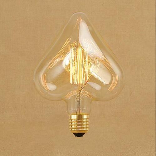 1шт 40W E26 / E27 Звезда Тёплый белый 2000k Декоративная Лампа накаливания Vintage Эдисон лампочка 220-240V