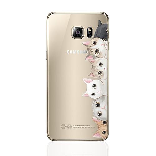 Кейс для Назначение SSamsung Galaxy S8 Plus S8 С узором Кейс на заднюю панель Кот Мягкий ТПУ для S8 Plus S8 S7 edge S7 S6 edge plus S6