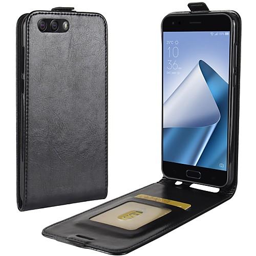 Кейс для Назначение Asus Zenfone 4 ZE554KL Zenfone 4 MAX ZC554KL Бумажник для карт Флип Чехол Сплошной цвет Твердый Кожа PU для Asus аксессуар защитное стекло asus zenfone 4 max zc520kl luxcase 0 33mm 82315