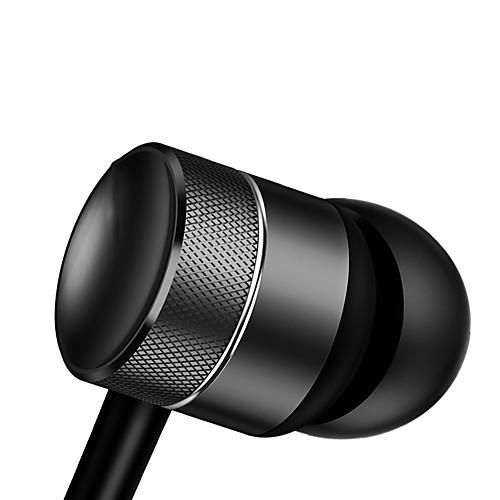H04 В ухе Проводное Наушники динамический Aluminum Alloy / пластик Pro Audio наушник С регулятором громкости / С микрофоном / Стерео наушник