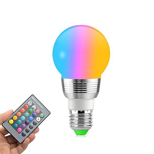 1шт 5W 400lm E27 Круглые LED лампы 5 Светодиодные бусины SMD Декоративная На пульте управления RGB белый 85-265V игрушечные машинки на пульте управления по грязи купить