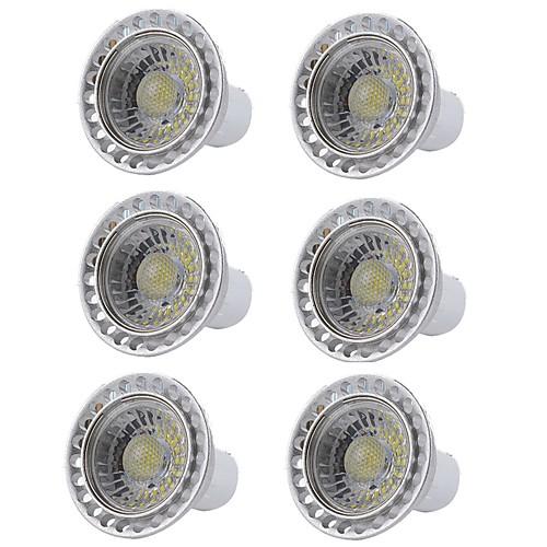 6шт 5W 400lm GU10 Точечное LED освещение 1 Светодиодные бусины COB Диммируемая Светодиодная лампа Тёплый белый Холодный белый 110-130V