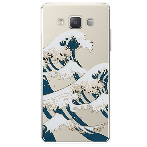 Case For Samsung Galaxy A7(2017) Pattern Back Cover Lines / Waves Soft TPU for A3(2017) / A5(2017) / A7(2017)
