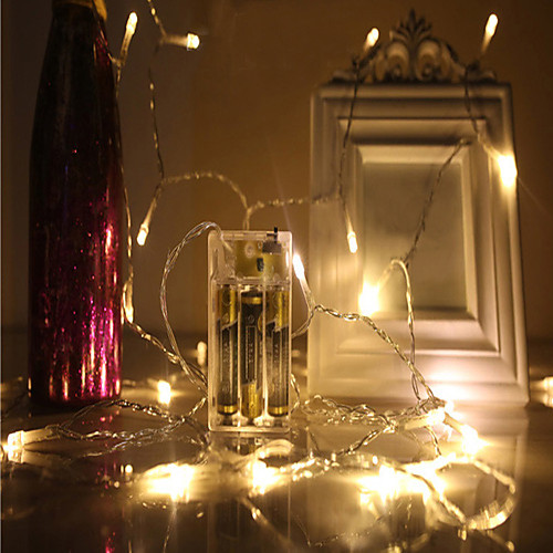 4м Гирлянды 40 светодиоды ДИП светодиоды 4M String Light Тёплый белый / Холодный белый / Красный Декоративная / Новогоднее украшение для свадьбы светодиоды