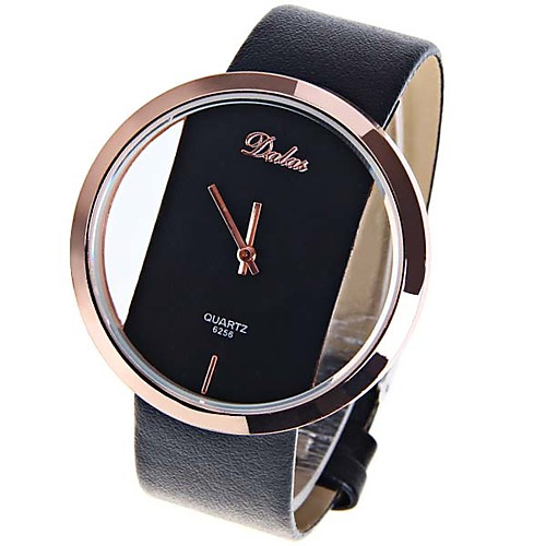 Women's Ladies Wrist Watch Quartz Leather Black / White / Red Casual Watch Cool Analog Casual Fashion Minimalist - Black Brown Red One Year Battery Life