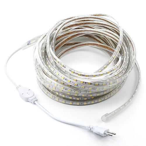 Купить со скидкой 15 м / 1 шт. 220 В 5050 светодиодные гибкие ленты веревки полосы света xmas открытый водонепроницаем
