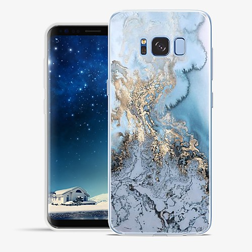 Case For Samsung Galaxy S8 Plus / S8 Pattern Back Cover Lines / Waves / Marble Soft TPU for S8 Plus / S8 / S7 edge