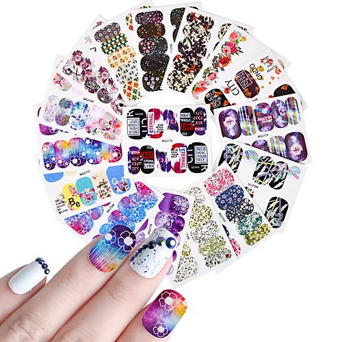 25pcs Наклейка для ногтей Ножницы Шаблон шаблона для ногтей Цветы Наклейки для ногтей Очаровательный pigeon 10317 15122 ножницы для ногтей новорожденных ножницы для новорожденных 1 шт
